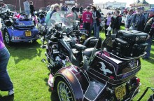 Visitors admire the Goldwings at last year's rally.