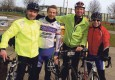 King's Lynn Cycle Club reliability riders Martin Koenigsberger, Simon Hardy, Kersten Muller and Paddy Thompson.